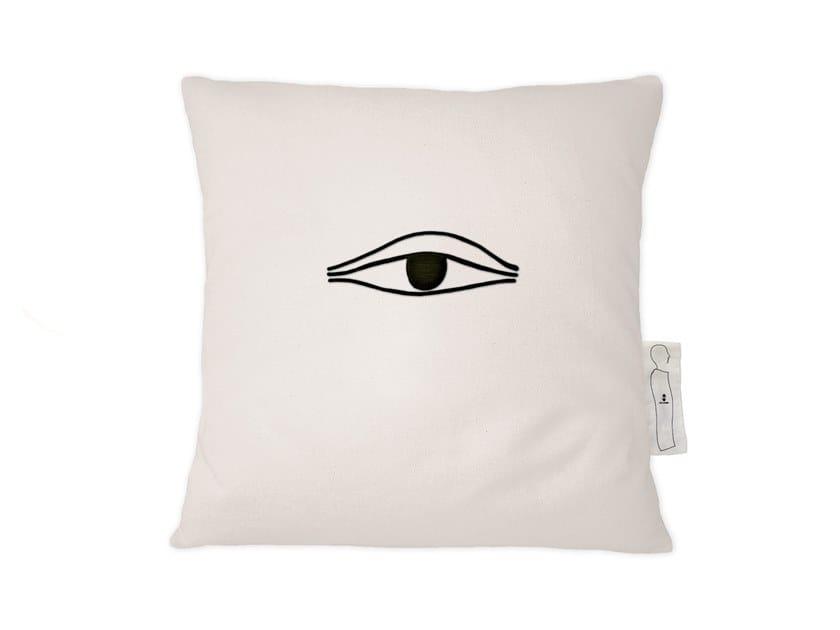 Square linen cushion NOTES IV by Kiasmo