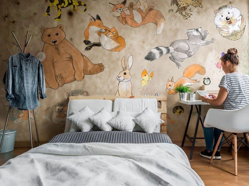Rubber nonwoven kids wallpaper NOTTINGHAM by Tecnografica Italian Wallcoverings