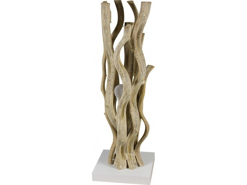 Wooden table lamp NOUMEA by Flam & Luce