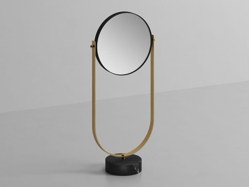 Tilting countertop round mirror NOUVEAU | Round mirror by Ex.t