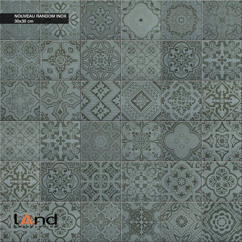 Pavimento in gres porcellanato tecnico effetto cementine NOUVEAU INOX by Land Porcelanico