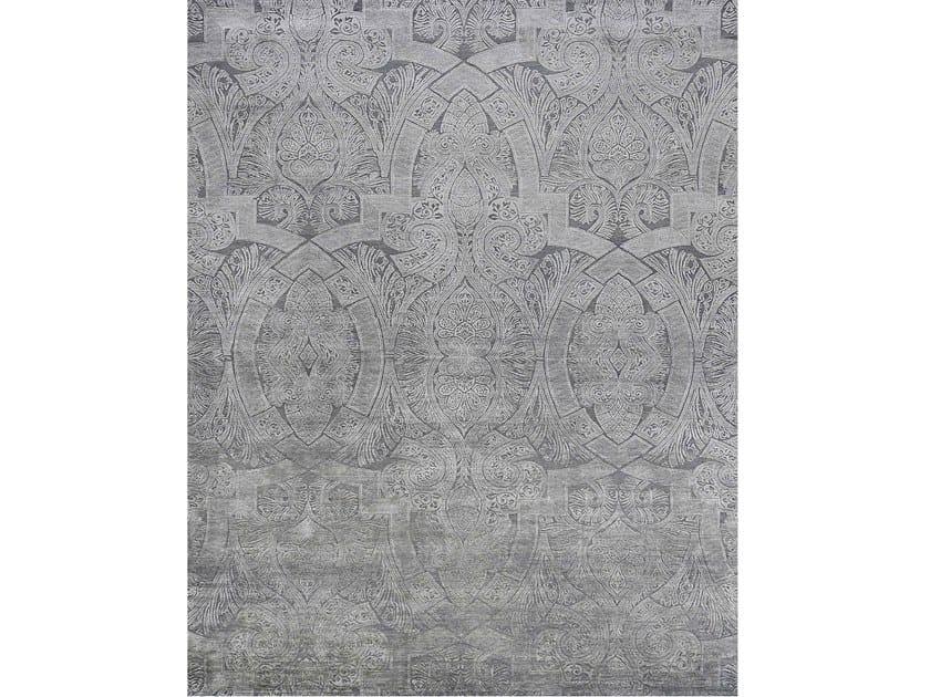 Handmade rectangular rug NOUVEAU ORIENT GREY by EBRU