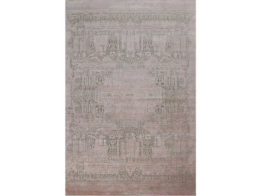 Handmade rectangular rug NOUVEAU ORIENT PINK by EBRU