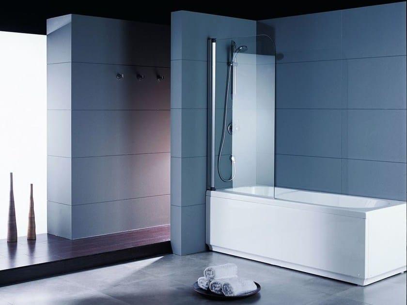 Glass bathtub wall panel NOVA 2B by Systempool