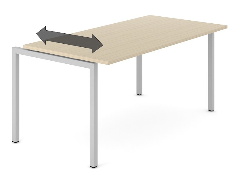Sectional workstation desk NOVA U SLIDE by NARBUTAS