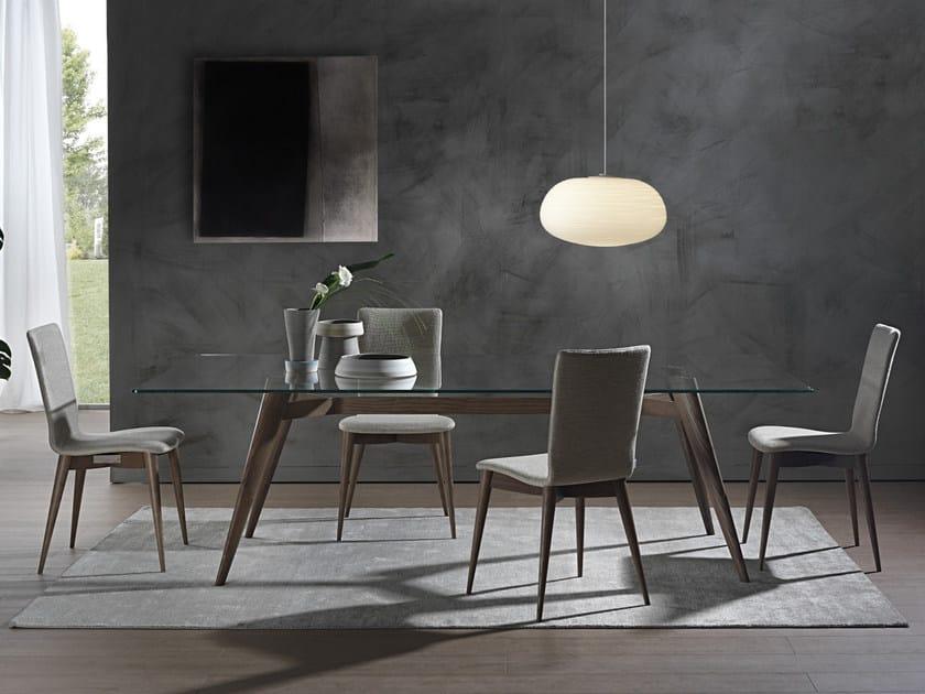 Tavolo rettangolare NOVECENTO | Tavolo in legno e vetro by Pacini & Cappellini