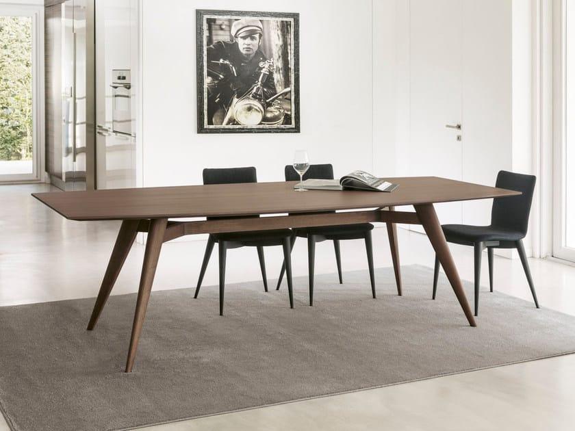 Rectangular table NOVECENTO | Wood veneer table by Pacini & Cappellini