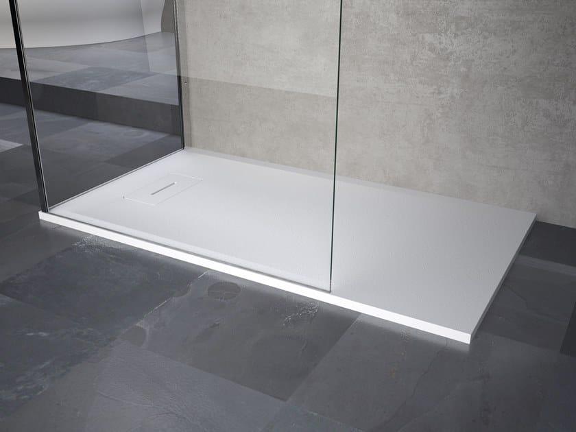 Anti-slip rectangular shower tray NOVOSOLID | Shower tray by NOVELLINI