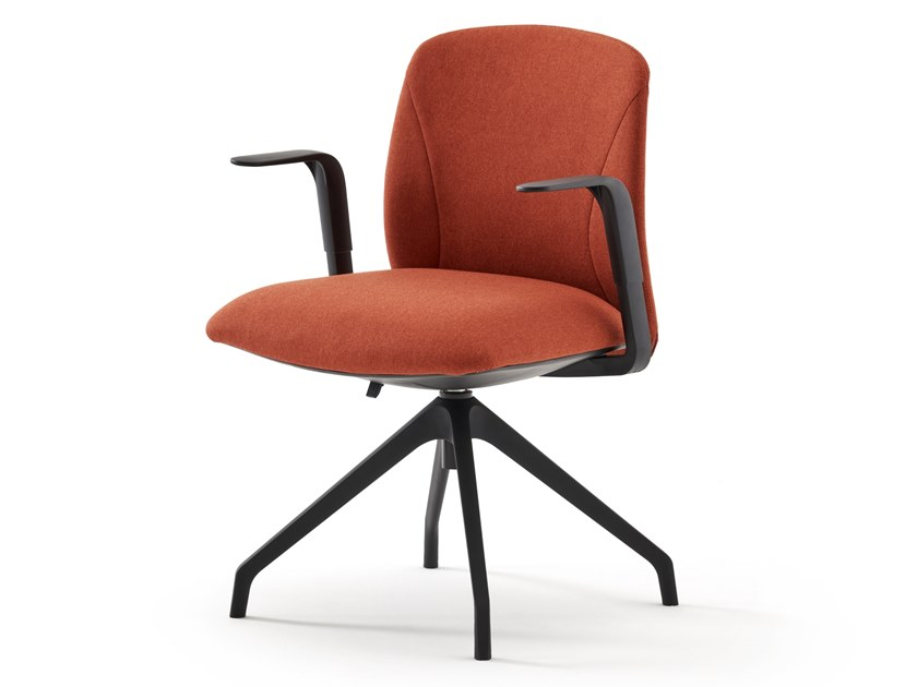 Upholstered fabric office chair with armrests NOW   Office chair by ESTEL GROUP