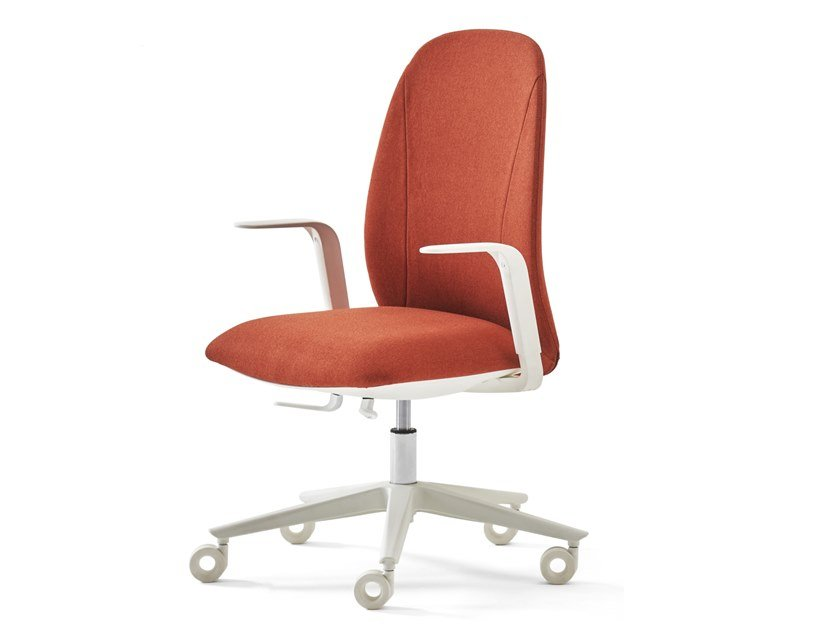 Height-adjustable upholstered fabric office chair NOW   Office chair with castors by ESTEL GROUP
