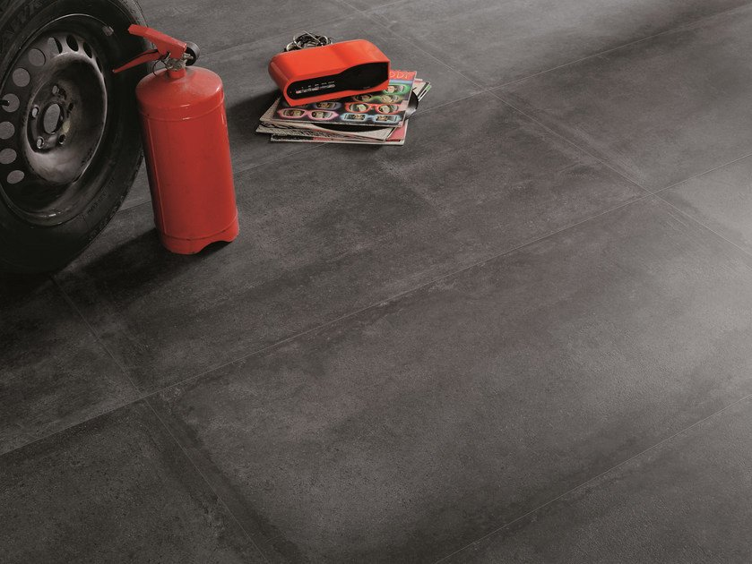 Indoor/outdoor porcelain stoneware wall/floor tiles NR. 21 BLACK by Viva by Emilgroup