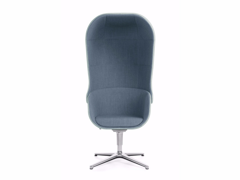 Easy chair with 4-spoke base high-back NU 11F by profim
