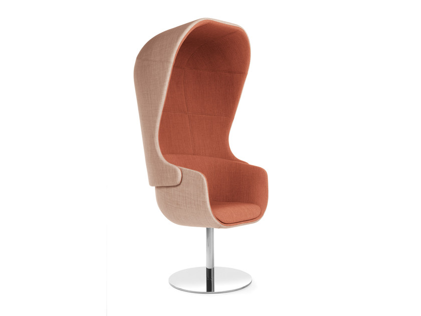 Easy chair with 4-spoke base with armrests high-back NU 11R by profim