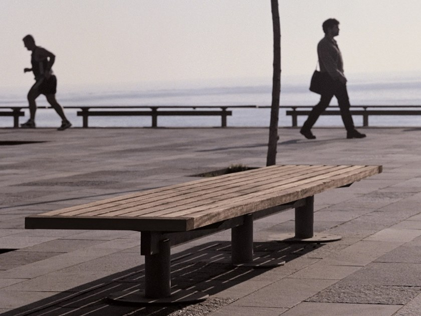 Panchina in legno senza schienale NU | Panchina senza schienale by URBIDERMIS