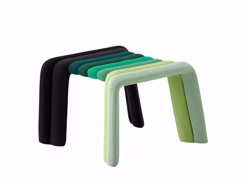 Fabric footstool NUANCE | Footstool by Casamania & Horm