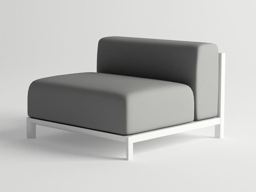 Aluminium garden armchair NUBES MODULAR SOFA CENTER PIECE by 10Deka
