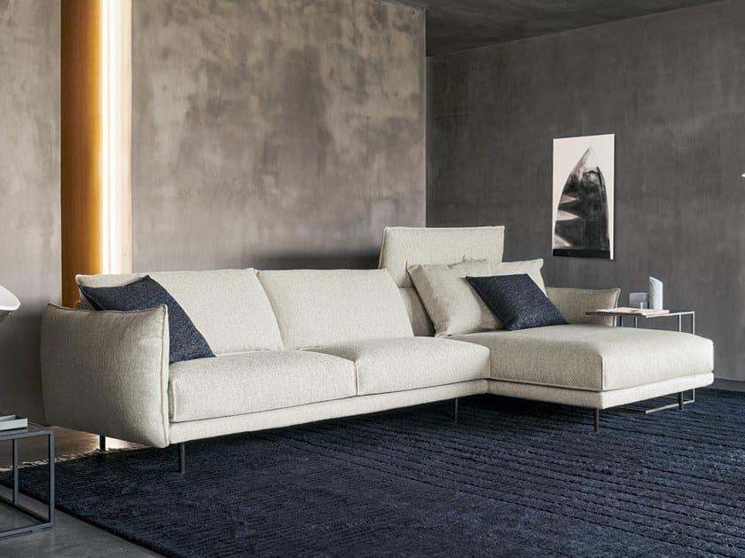 Divano componibile in tessuto con chaise longue NUBES | Divano componibile by Twils