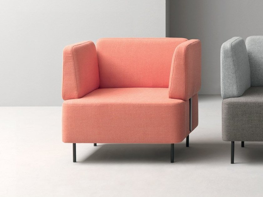 Fabric armchair with armrests NUCLEO | Armchair with armrests by Martex