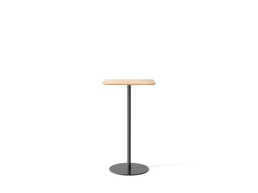 Square oak high table NÚCLEO | High table by Punt