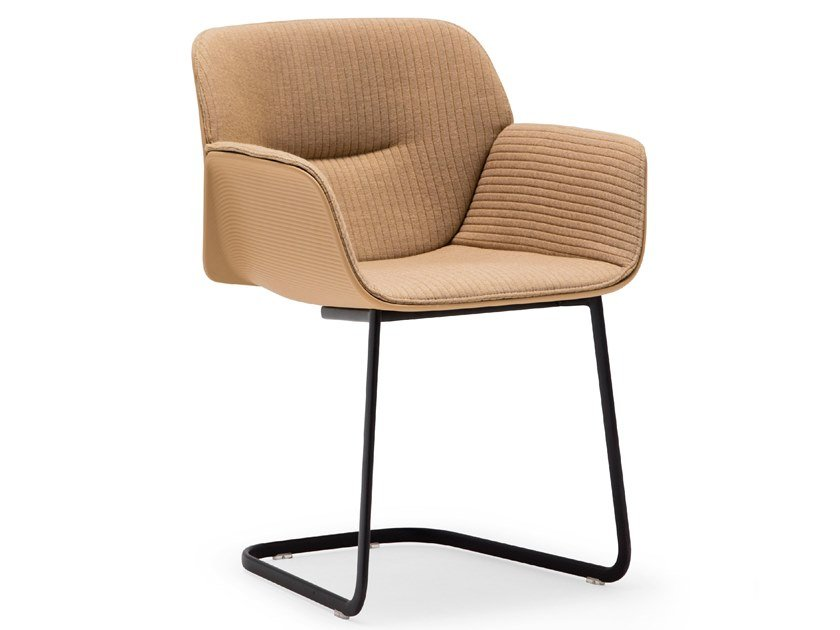 Cantilever chair with armrests NUEZ SO2771 by Andreu World