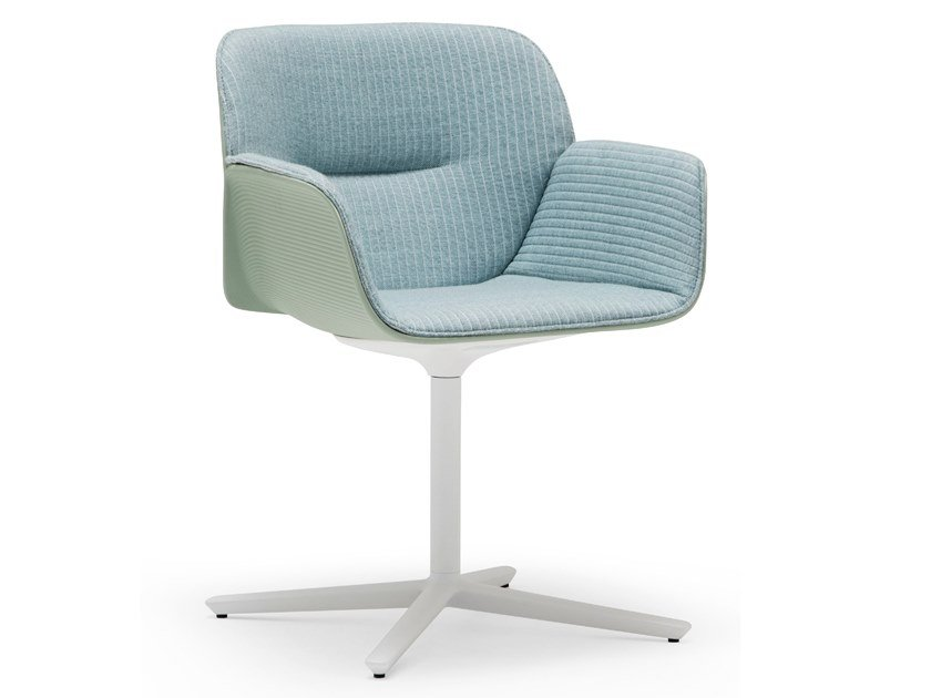 Swivel chair with 4-spoke base with armrests NUEZ SO2772 by Andreu World