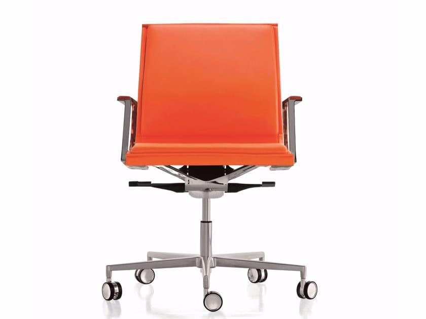Sedia ufficio operativa a razze con ruote nulite sedia ufficio