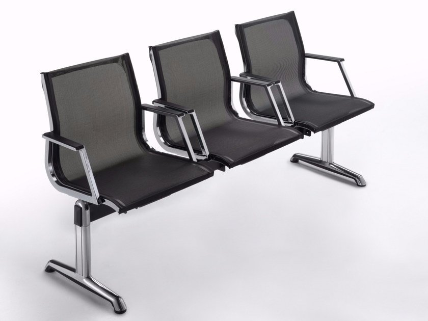 Freestanding mesh beam seating NULITE | Mesh beam seating by Luxy