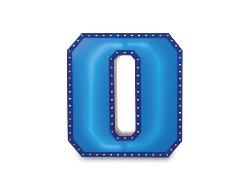 Fluorescent Light letter NUMBER 0 by Delightfull