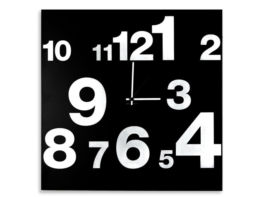 Wall-mounted plate clock NUMBERS by Designobject.it