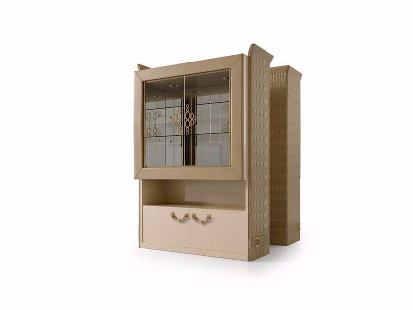 Leather bar cabinet NUMERO TRE   Bar cabinet by Turri