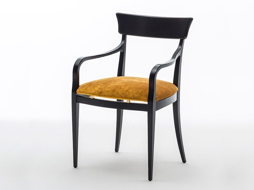 Upholstered ash chair with armrests NUOVA | Chair with armrests by OAK