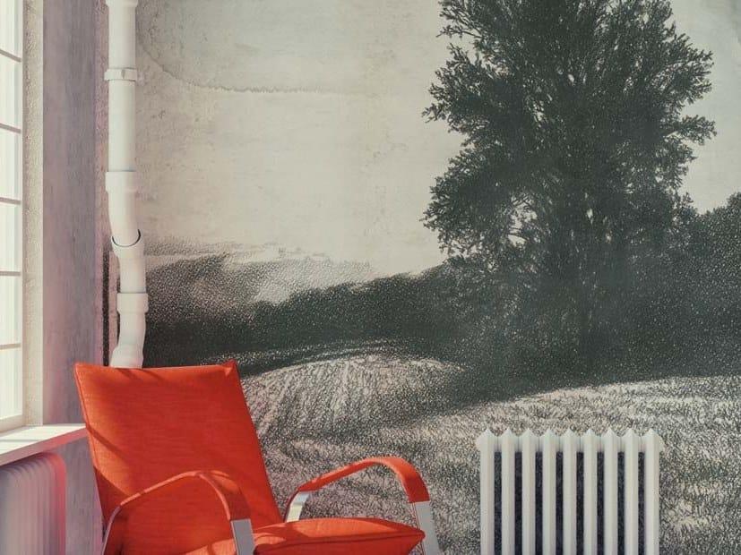 Rubber landscape glass-fibre wallpaper NUOVI ORIZZONTI by Tecnografica