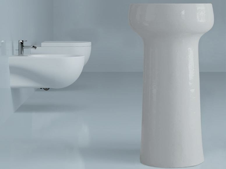 Freestanding ceramic washbasin NUVOLA | Freestanding washbasin by AZZURRA sanitari