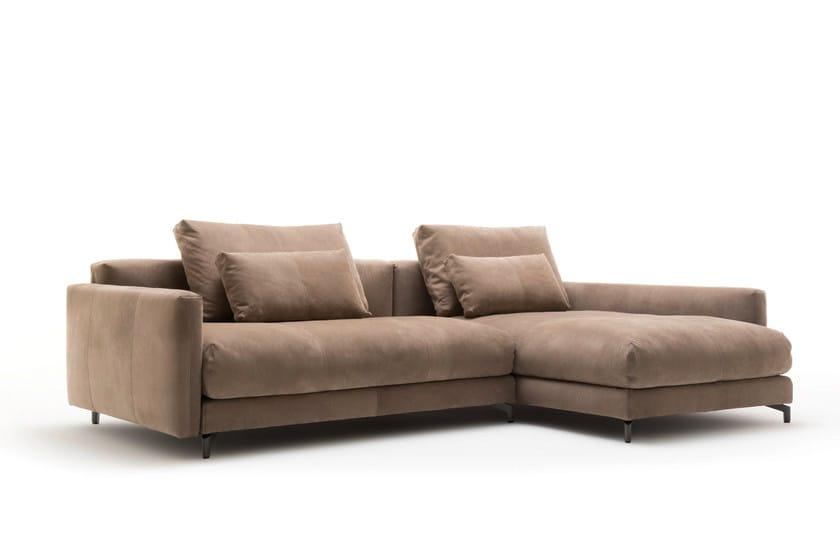 anbausofa aus leder mit r camiere nuvola sofa mit r camiere by rolf benz. Black Bedroom Furniture Sets. Home Design Ideas