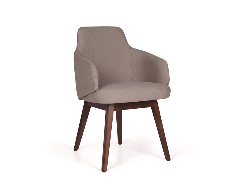 Upholstered chair with armrests NUZZLE CB P4 by Fenabel
