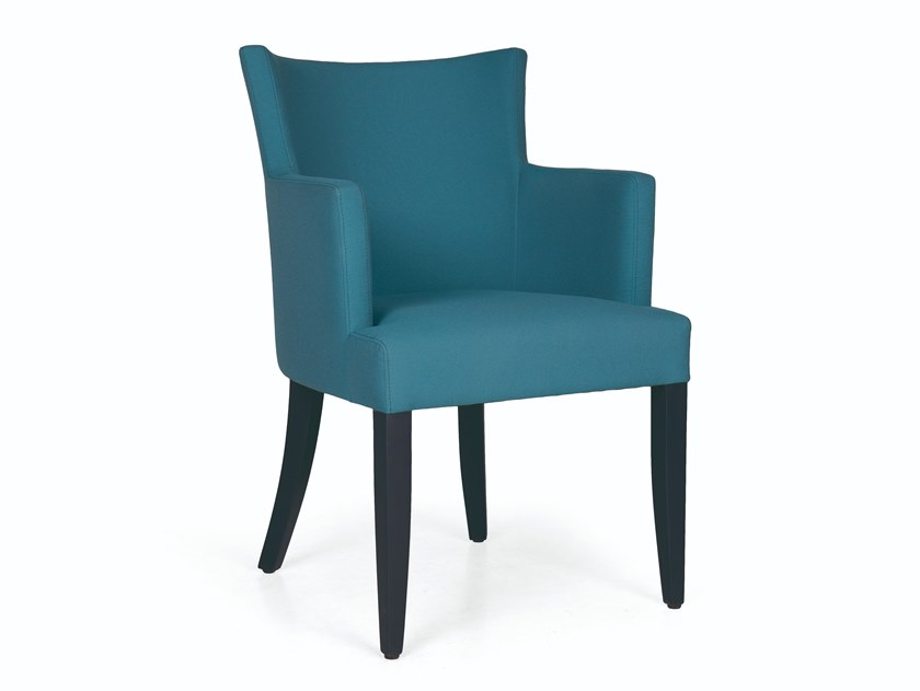 Upholstered fabric chair with armrests NYG CB by Fenabel