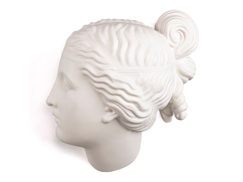 Porcelain wall decor item NYMPH HEAD by Seletti