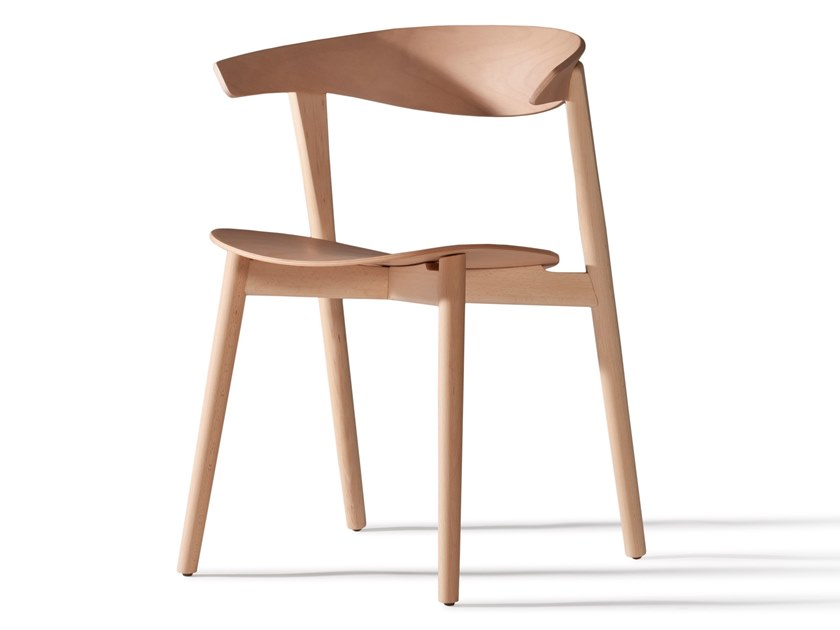 Wooden chair NIX 230M by Capdell