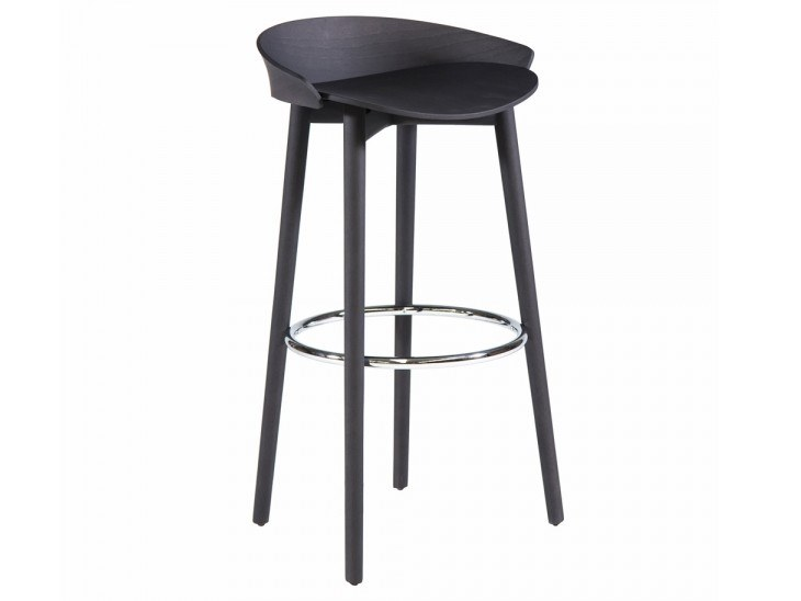 High stool with footrest NIX 239P by Capdell