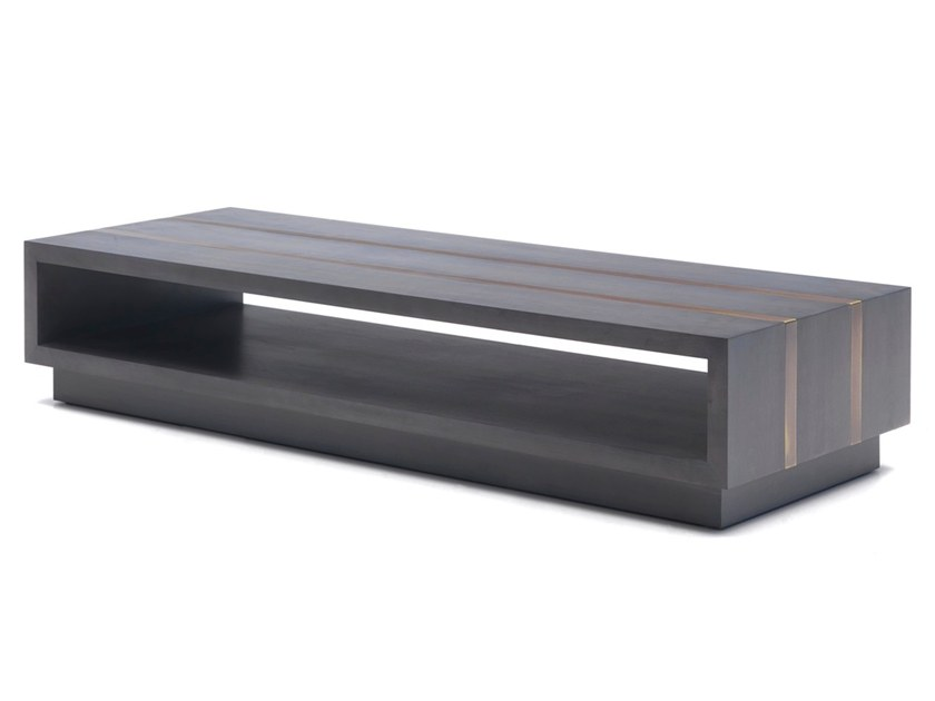 Rectangular cherry wood coffee table with storage space O 1275 | Coffee table by Annibale Colombo