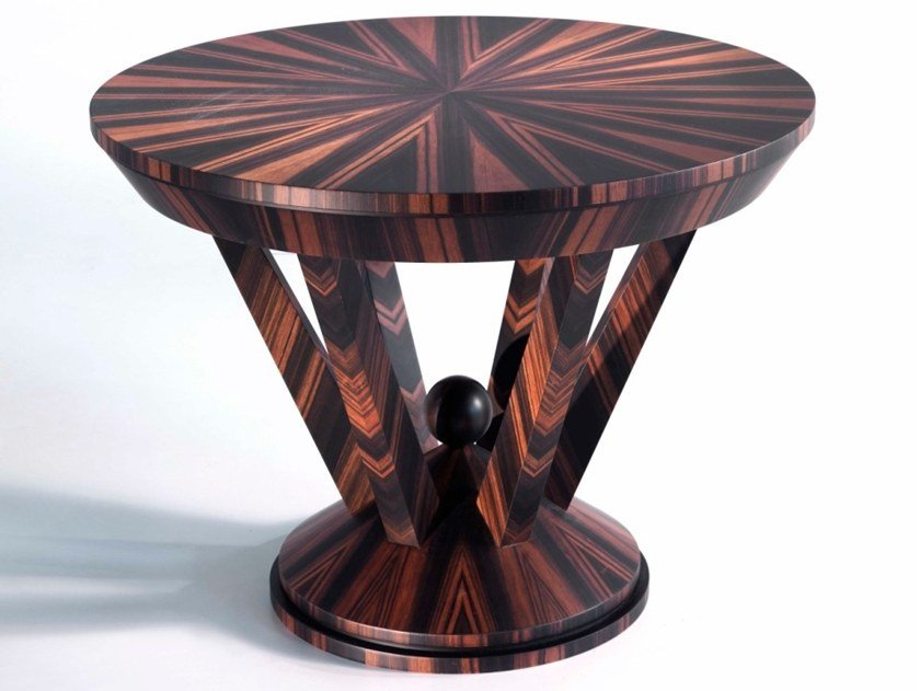Round ebony high side table O 1590 | Coffee table by Annibale Colombo