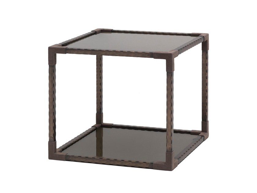 Square metal coffee table with storage space O 1620 | Coffee table by Annibale Colombo