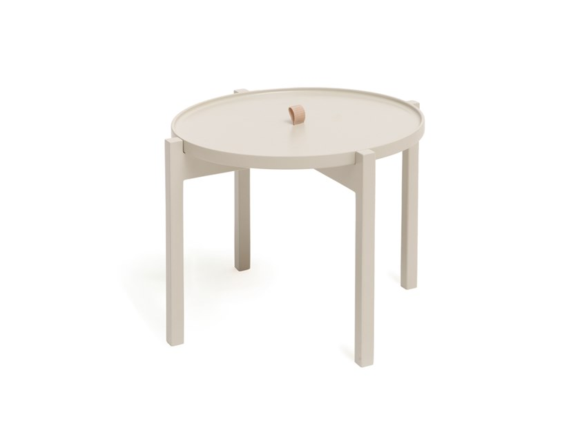 Round side table with tray O by Aggy