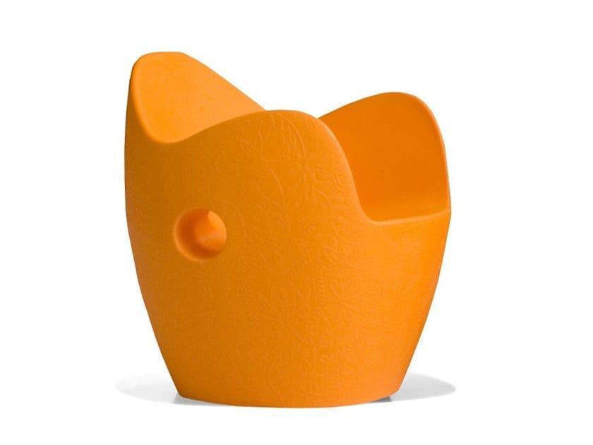 Poltroncina in polietilene con braccioli O-NEST by Moroso
