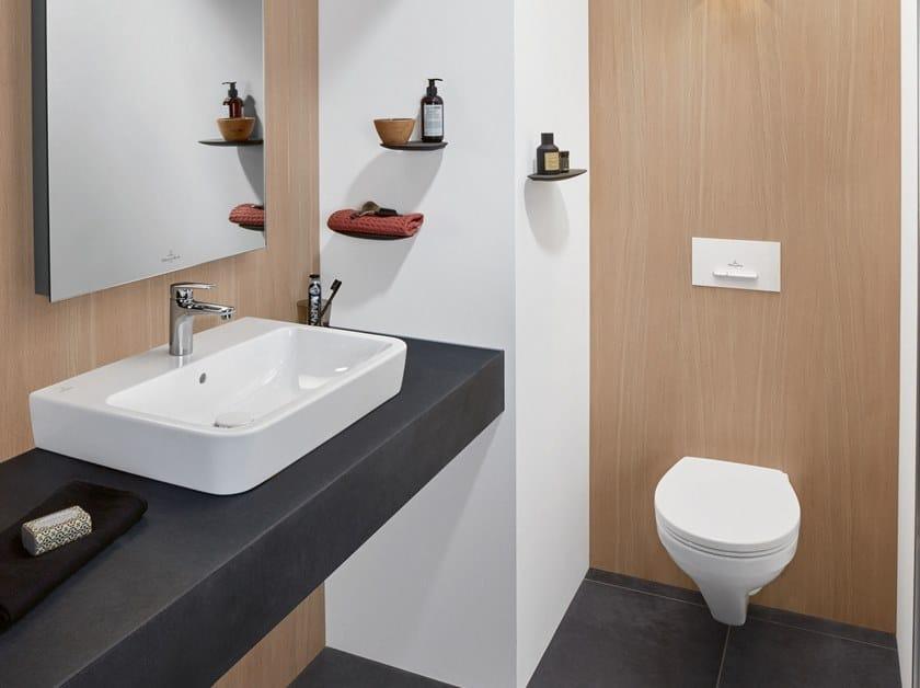 Countertop rectangular ceramic washbasin O.NOVO | Countertop washbasin by Villeroy & Boch