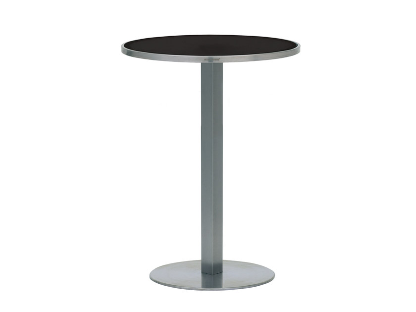 Round glass high table O-ZON | High table by ROYAL BOTANIA