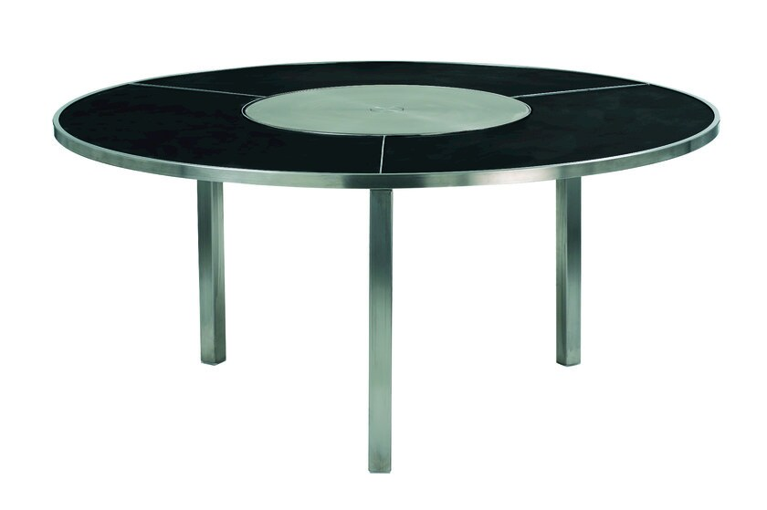 Round garden table with Lazy Susan O-ZON | Table with Lazy Susan by ROYAL BOTANIA