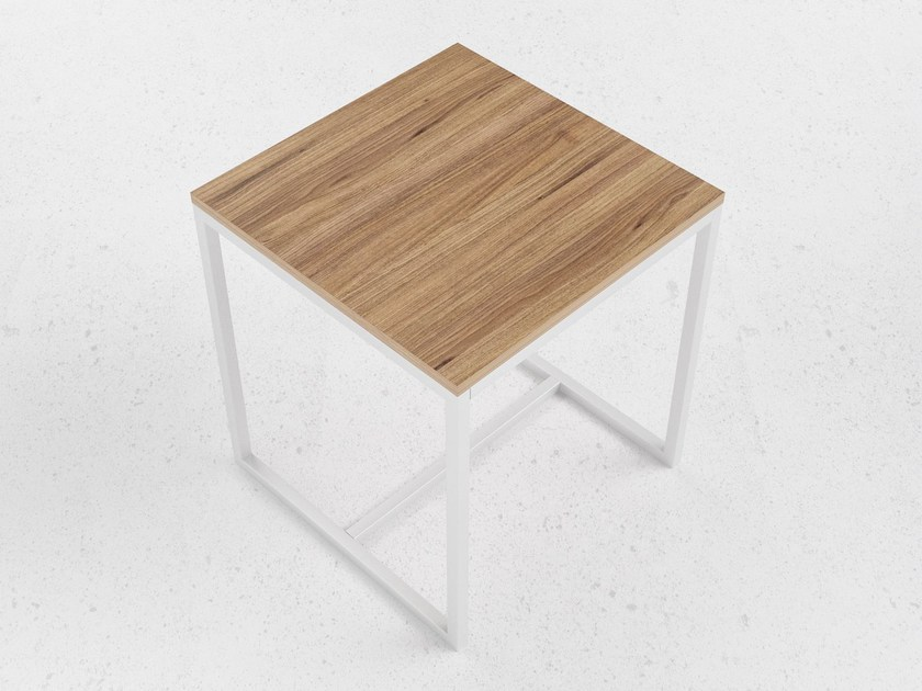 Steel and wood office desk O2 by ODESD2