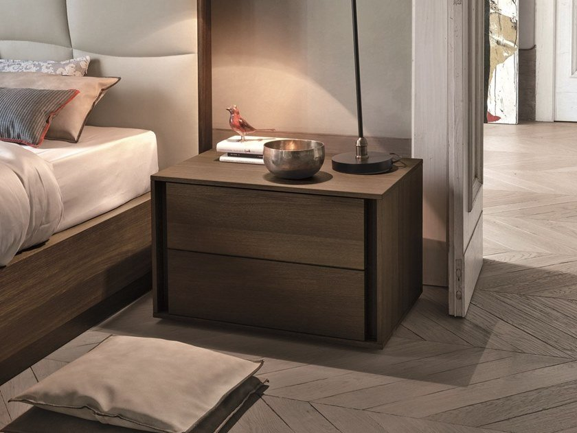 Rectangular oak bedside table VIP | Oak bedside table by Gruppo Tomasella
