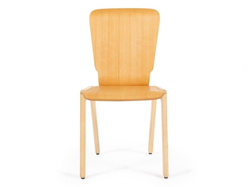 Cadeira empilhável de carvalho TIPRO | Cadeira de carvalho by Askia
